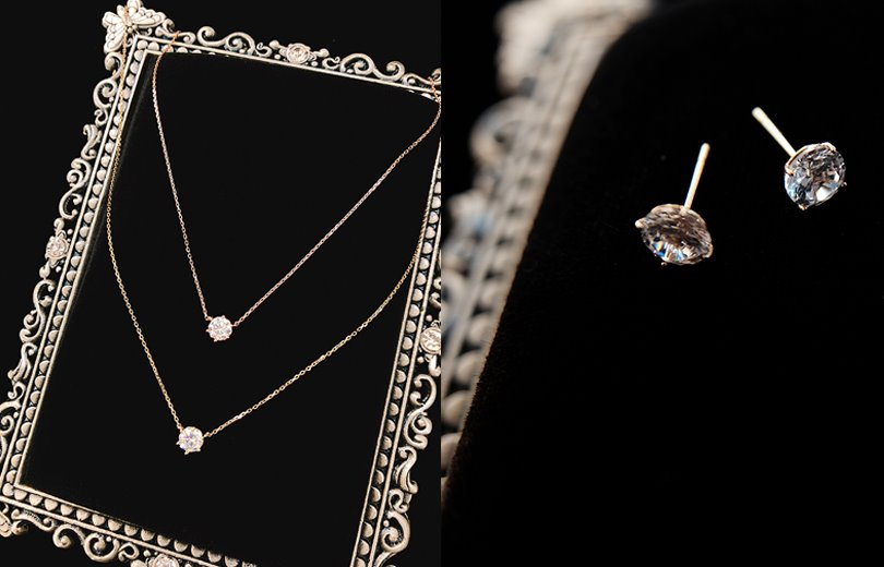 14k gold) necklace & earring